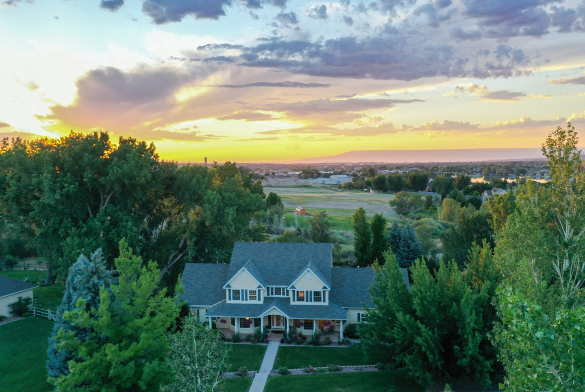 Aerial View of Home with Views - 2049 Brook Way Montrose, Co 81403 - Atha Team Luxury Real Estate