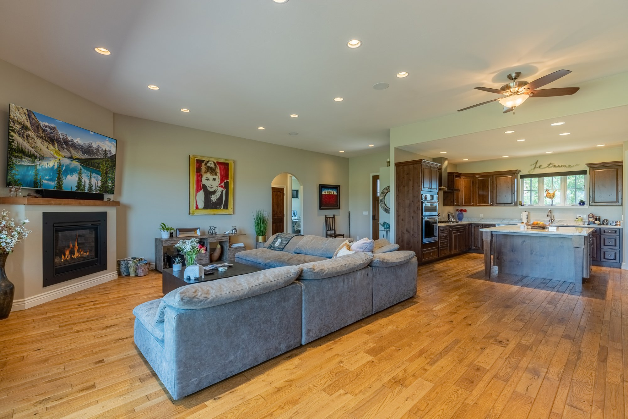 Living Room with Recessed Lighting - 2927 Sleeping Bear Rd Montrose, CO 81401 - Atha Team Real Estate