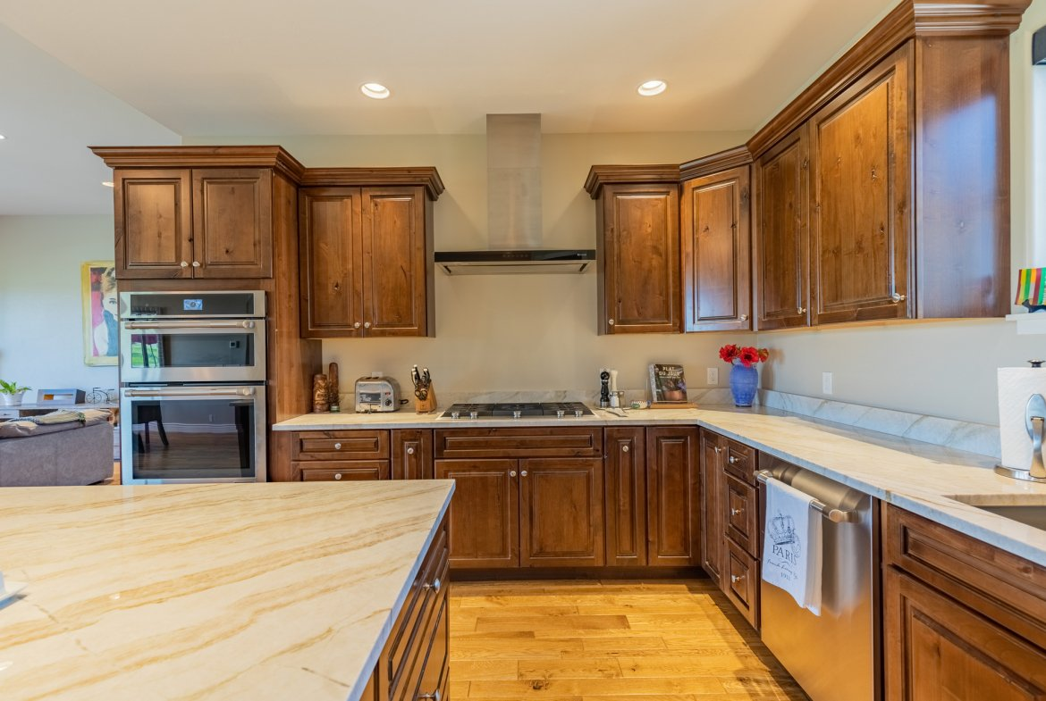 Kitchen with Marble Countertops - 2927 Sleeping Bear Rd Montrose, CO 81401 - Atha Team Real Estate