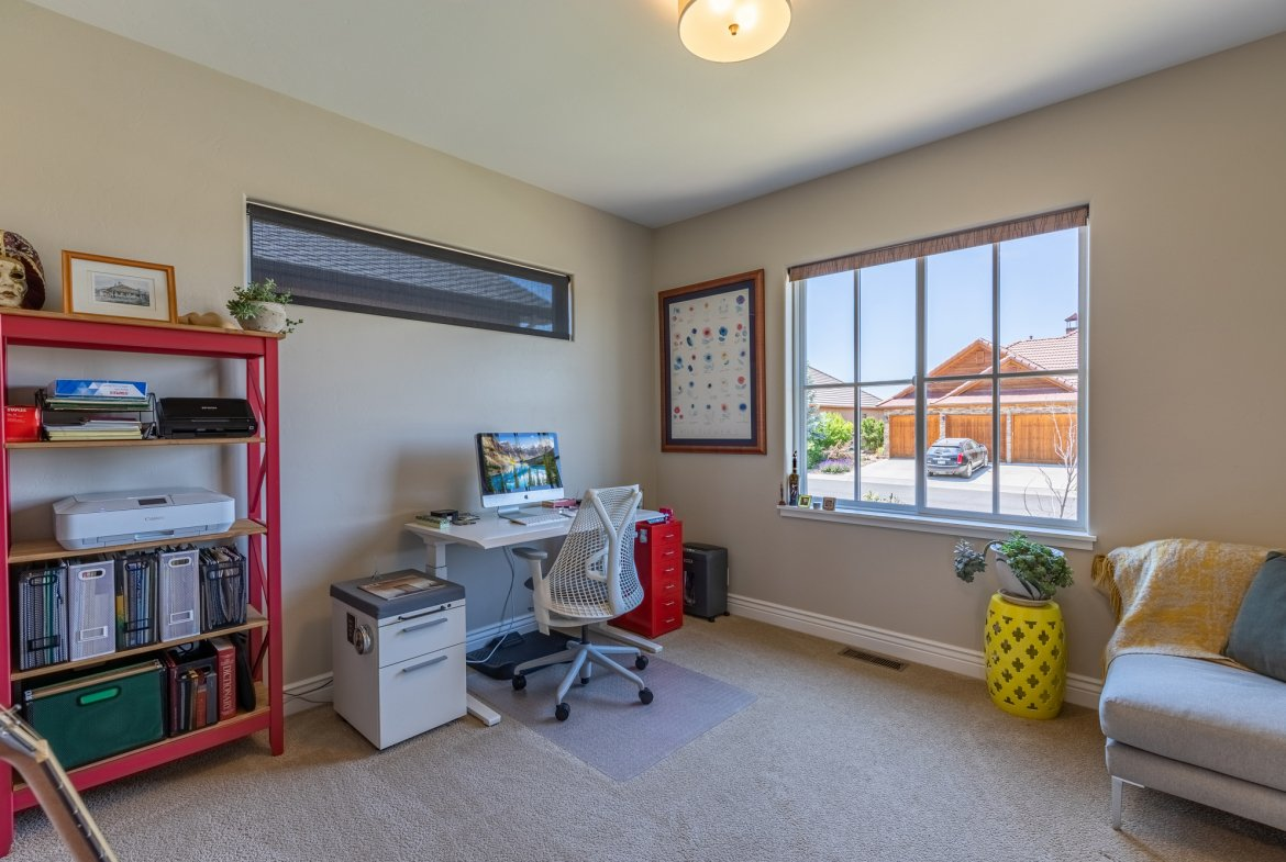 Bedroom/ Office with Carpet- 2927 Sleeping Bear Rd Montrose, CO 81401 - Atha Team Real Estate