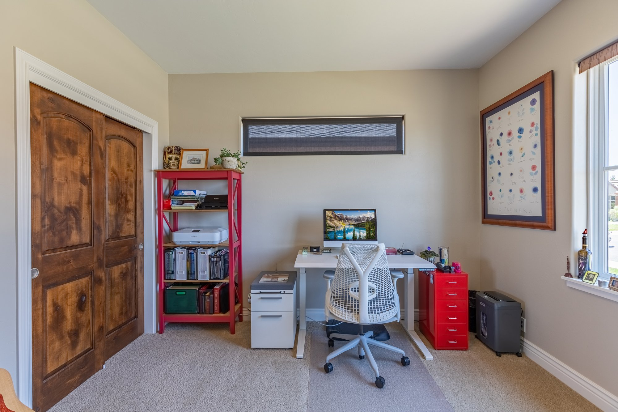 Bedroom/ Office with High Window - 2927 Sleeping Bear Rd Montrose, CO 81401 - Atha Team Real Estate