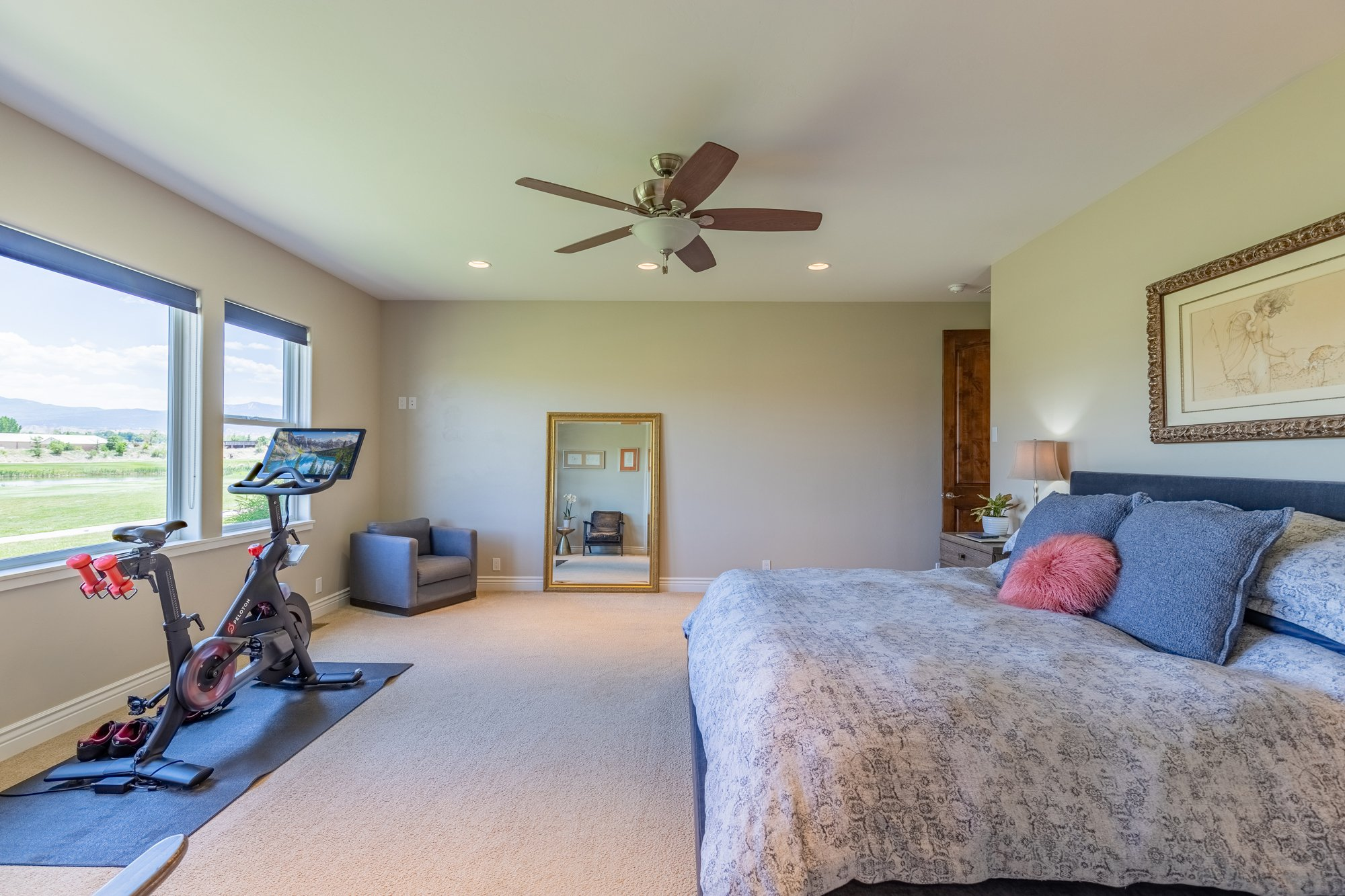 Master Bedroom with Golf Course Views - 2927 Sleeping Bear Rd Montrose, CO 81401 - Atha Team Real Estate