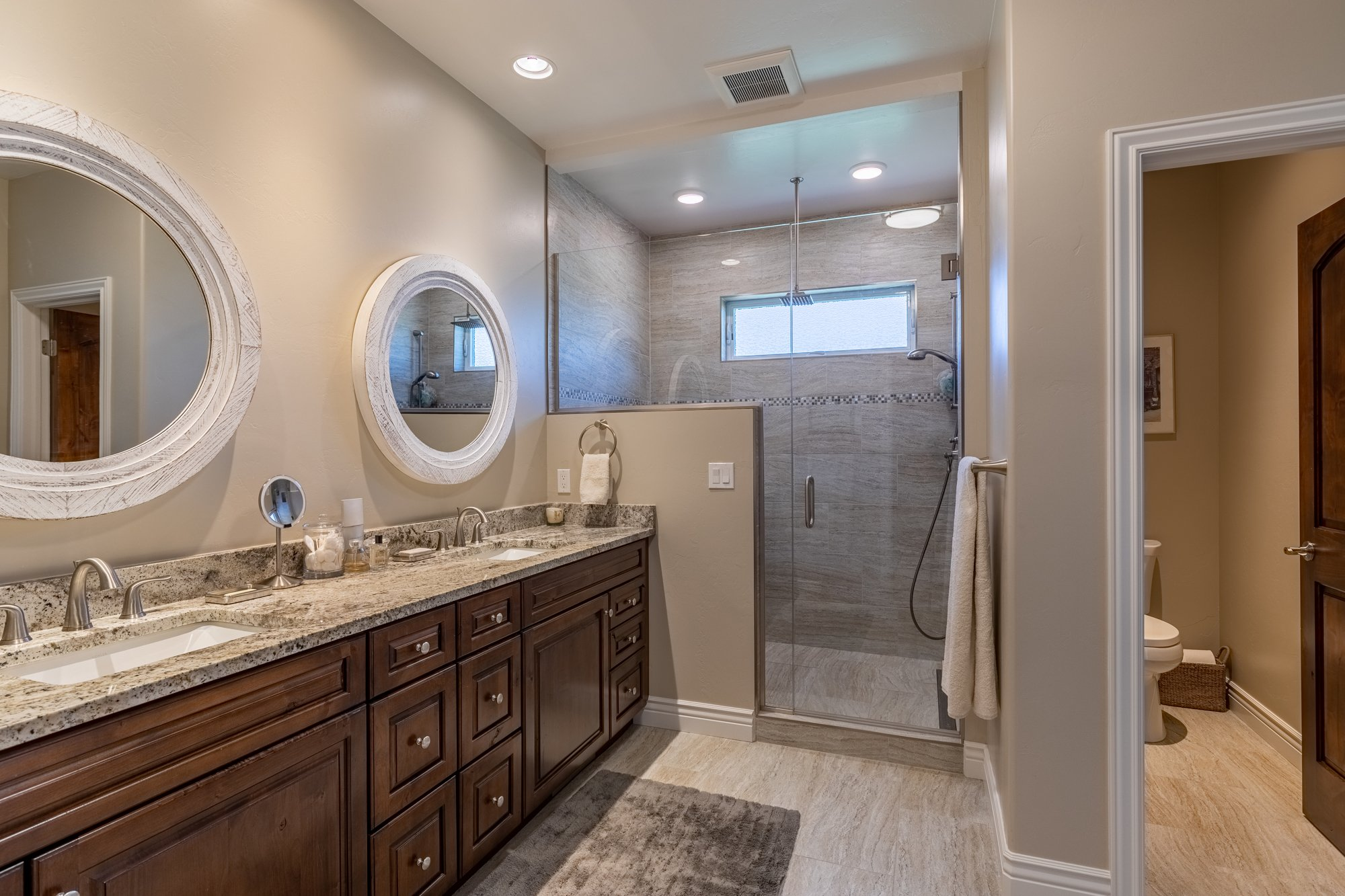 Master Bathroom with Tiled Shower - 2927 Sleeping Bear Rd Montrose, CO 81401 - Atha Team Real Estate