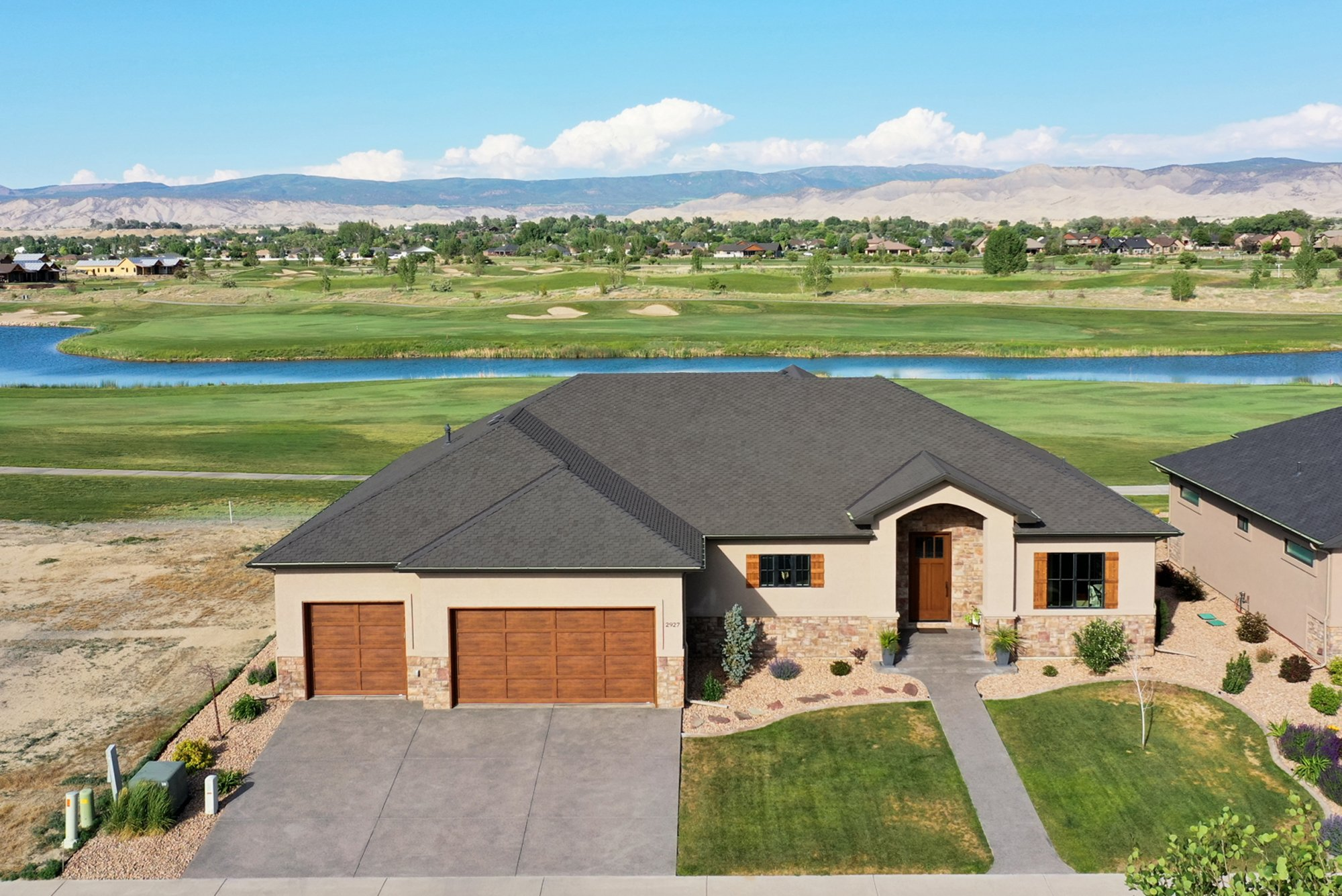 Aerial View Front of Home - 2927 Sleeping Bear Rd Montrose, CO 81401 - Atha Team Real Estate
