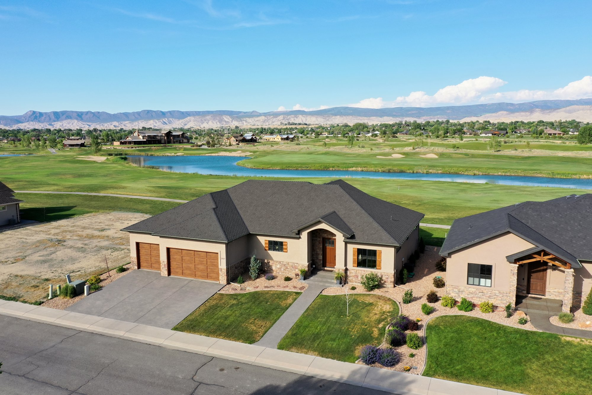 Aerial View Home and Golf Course - 2927 Sleeping Bear Rd Montrose, CO 81401 - Atha Team Real Estate