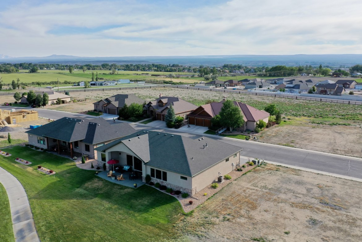 Aerial View Back of Home - 2927 Sleeping Bear Rd Montrose, CO 81401 - Atha Team Real Estate
