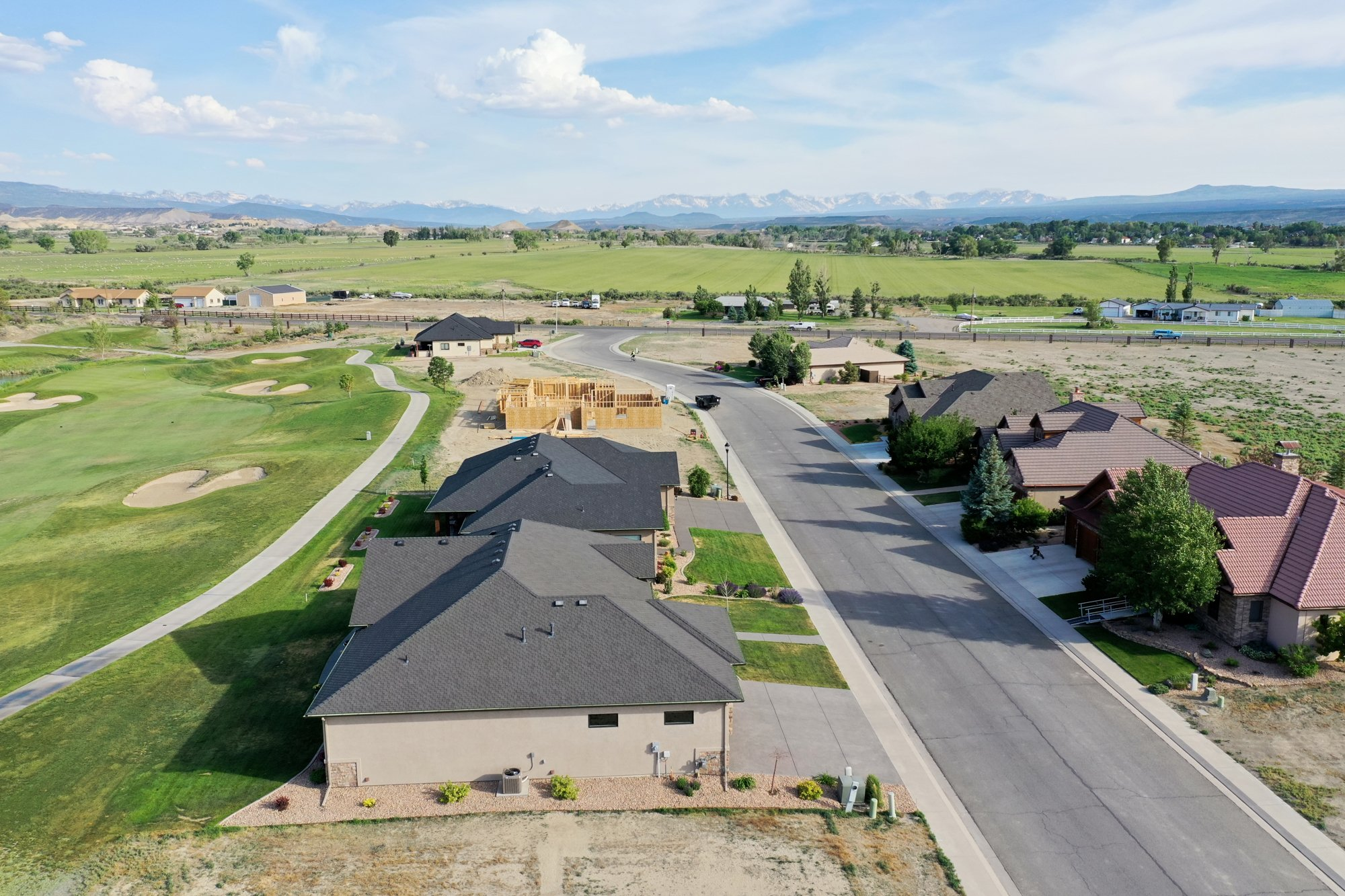 Aerial View to the South - 2927 Sleeping Bear Rd Montrose, CO 81401 - Atha Team Real Estate