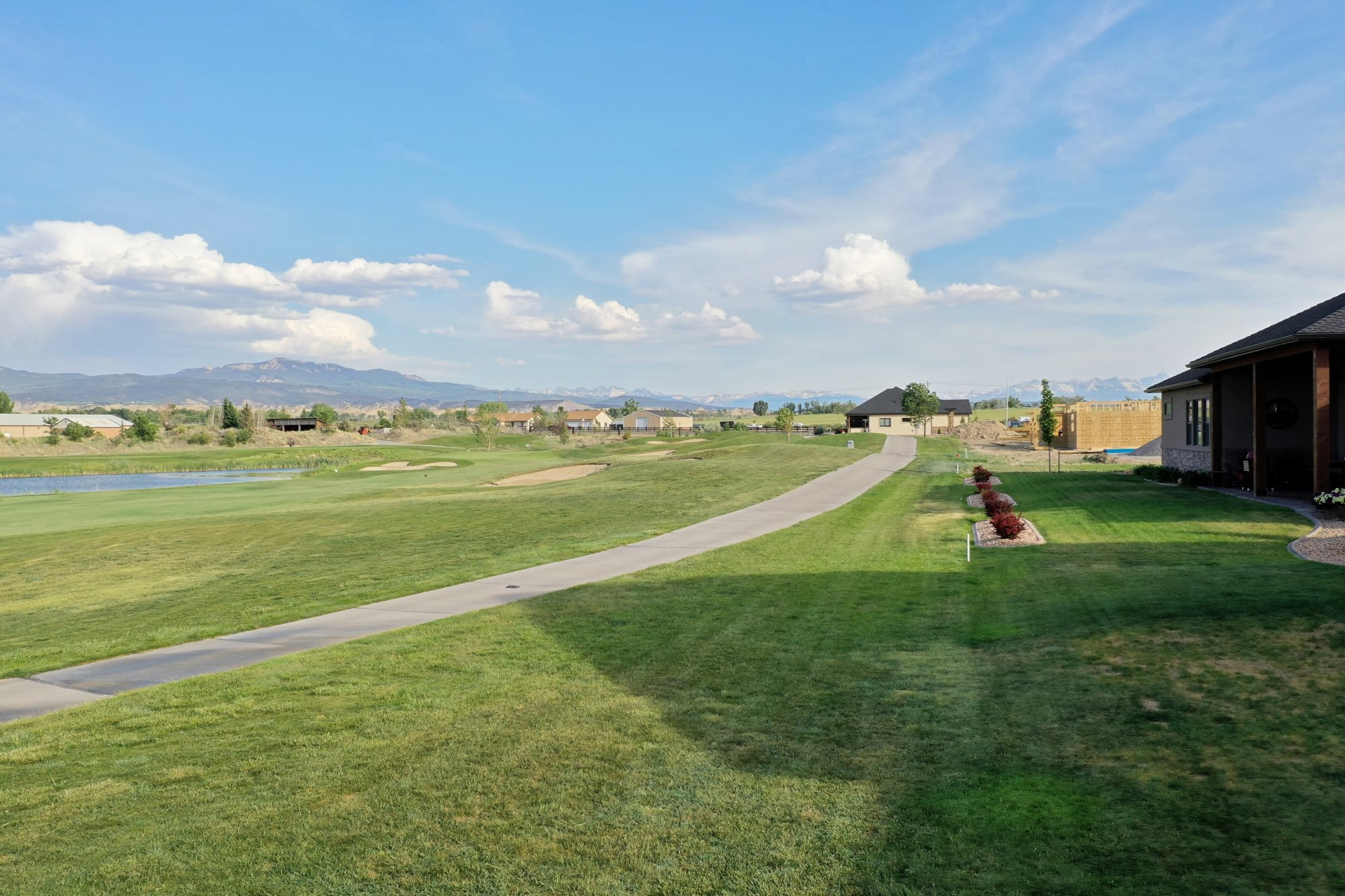 Back Yard Aerial View to the South - 2927 Sleeping Bear Rd Montrose, CO 81401 - Atha Team Real Estate