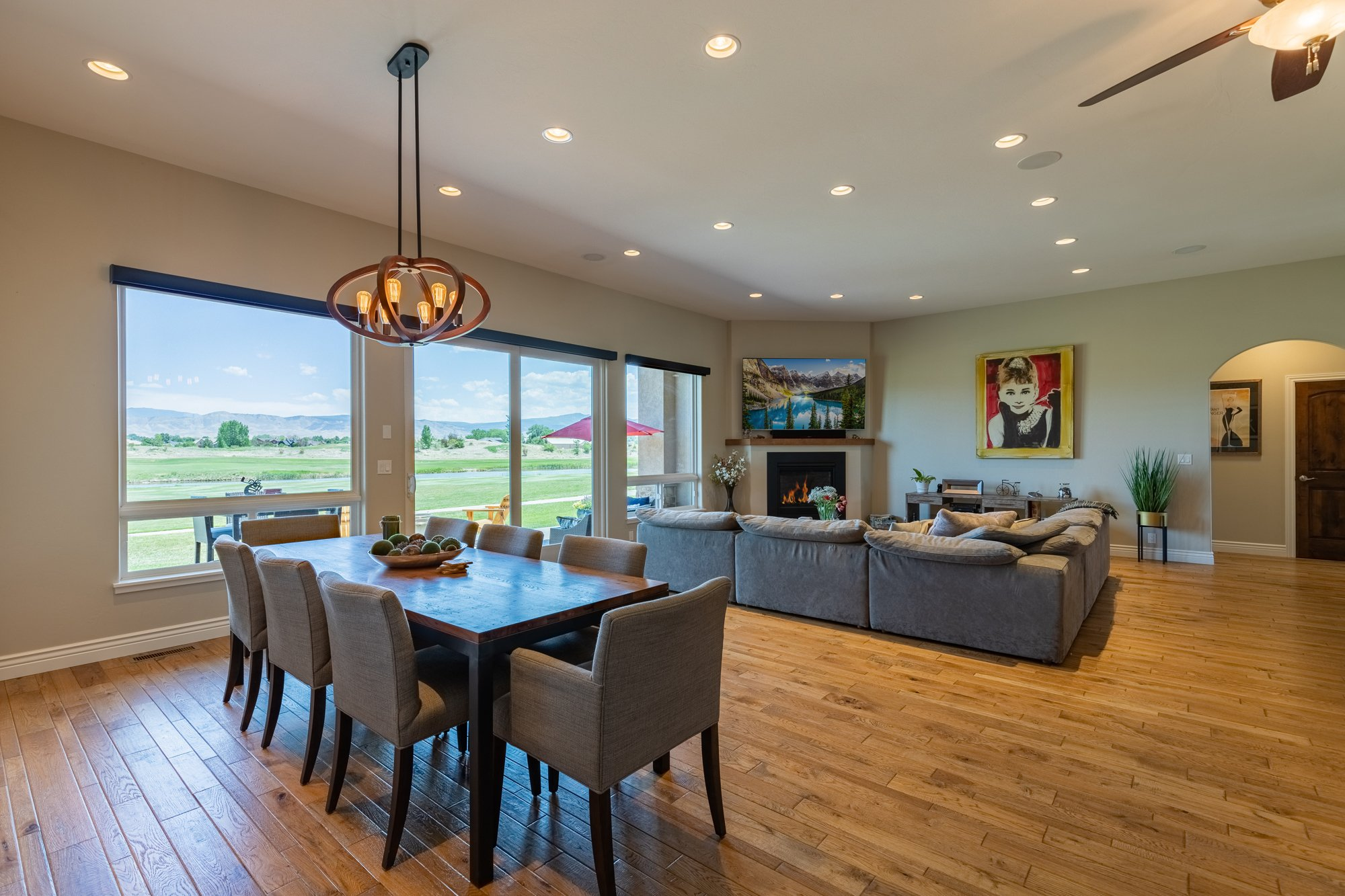 Living Room Dining - 2927 Sleeping Bear Rd Montrose, CO 81401 - Atha Team Real Estate
