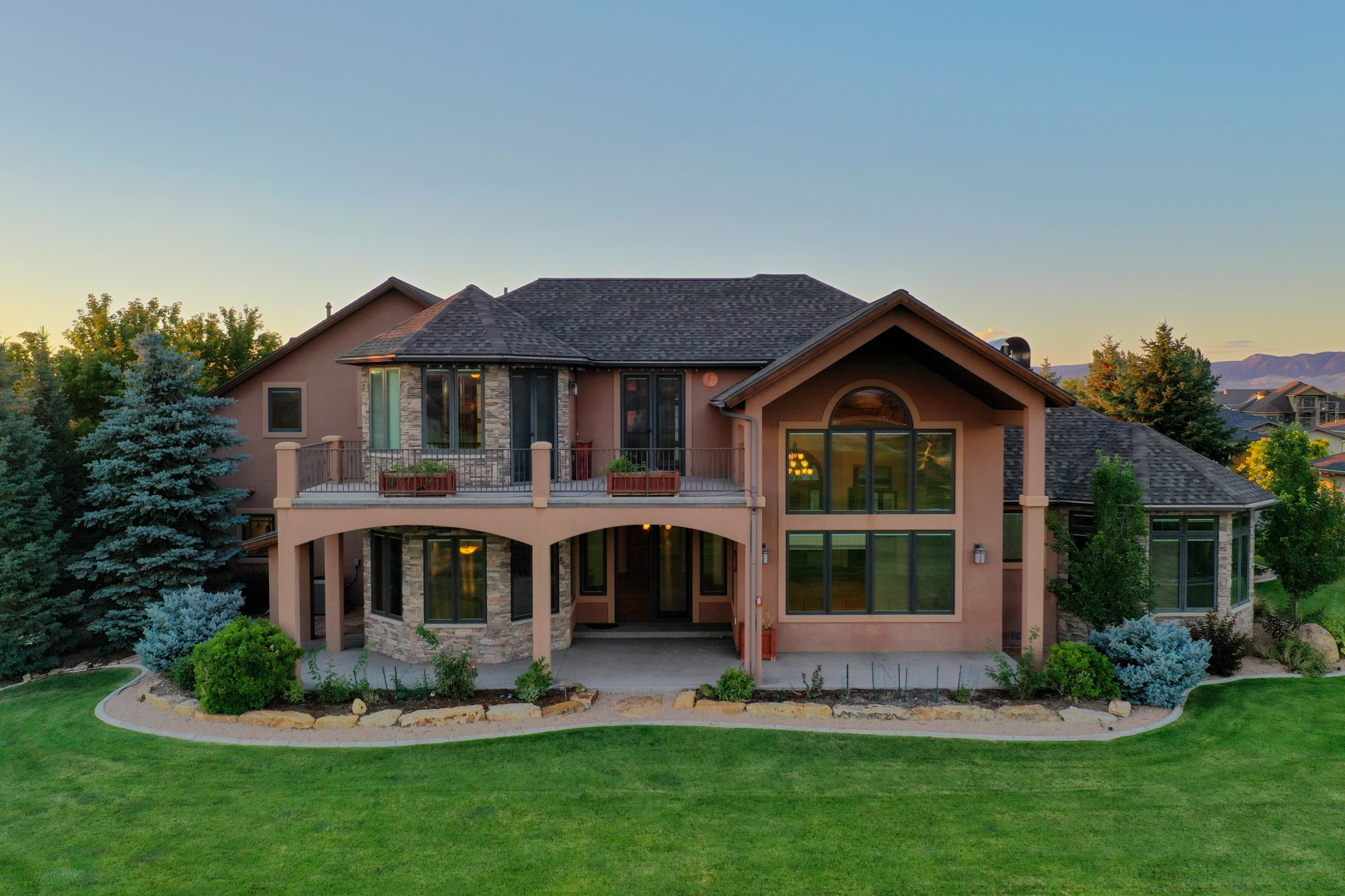 Aerial View Rear of Home - 924 Courthouse Peak Lane Montrose, CO 81403 - Atha Team Golf Luxury Real Estate