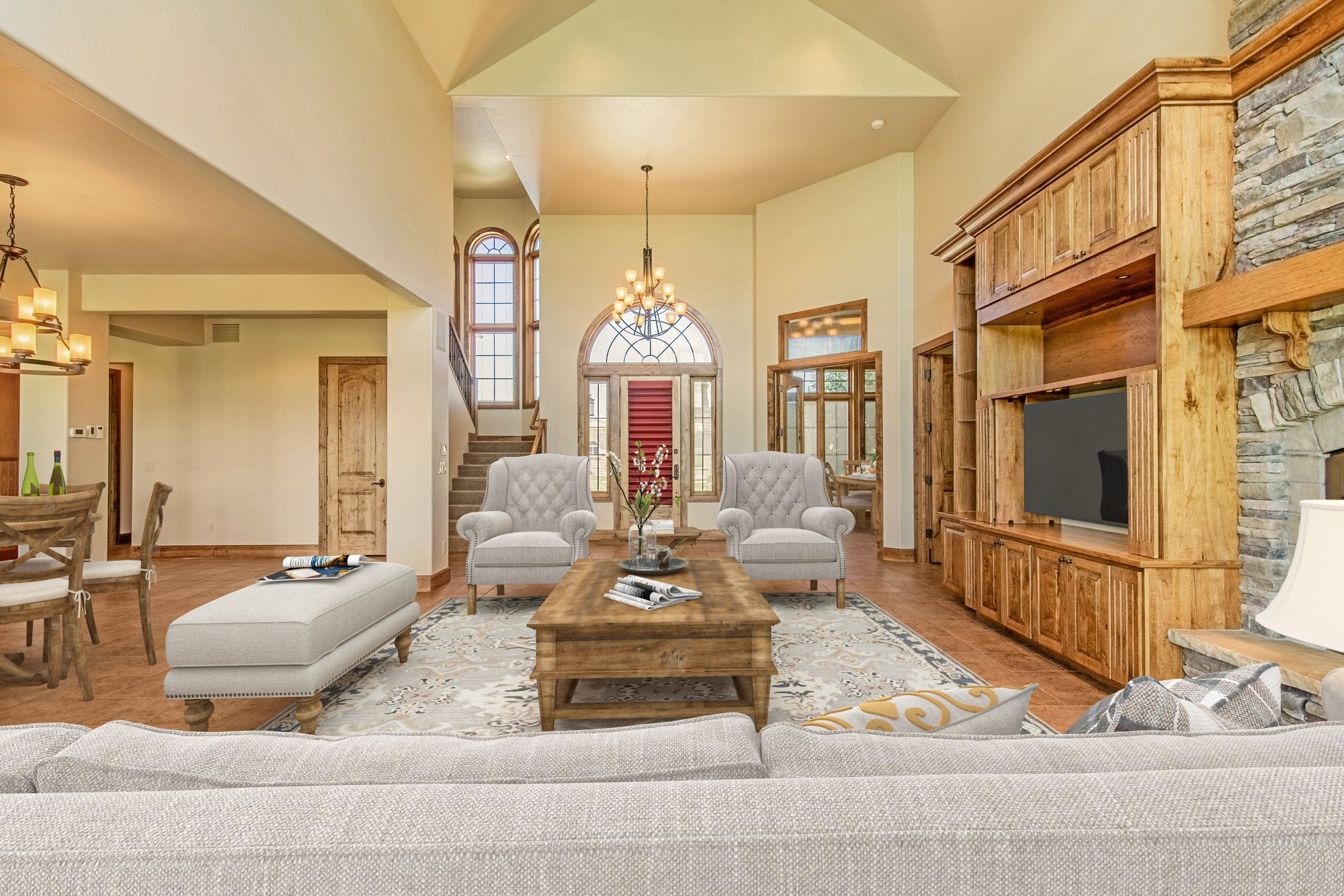 Open Concept Living Room - 924 Courthouse Peak Lane Montrose, CO 81403 - Atha Team Golf Luxury Real Estate