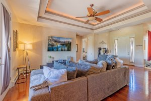 Living Room with Ceiling Fan - 2924 Lost Creek Rd S. Montrose, CO 81401 - Atha Team Real Estate Agents