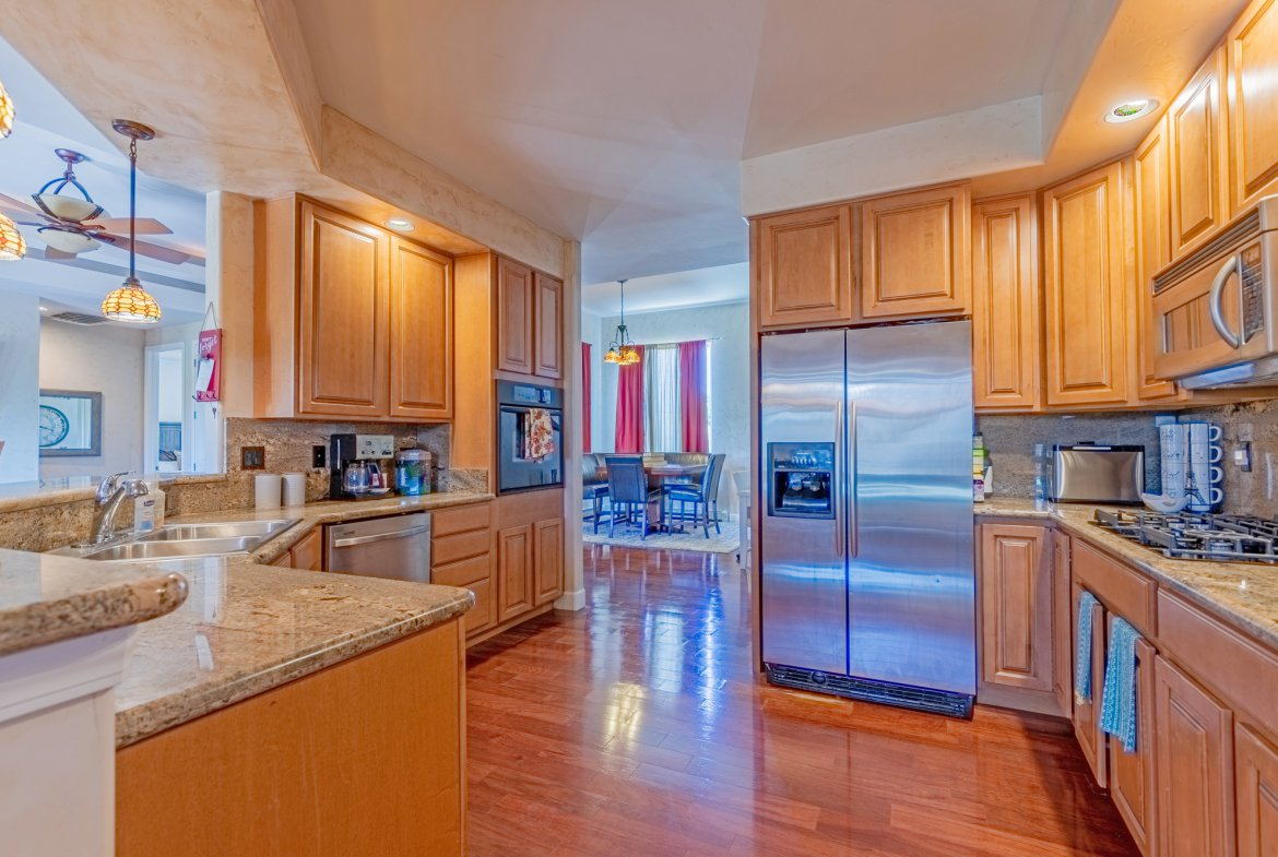Kitchen with Hardwood Floors - 2924 Lost Creek Rd S. Montrose, CO 81401 - Atha Team Real Estate Agents
