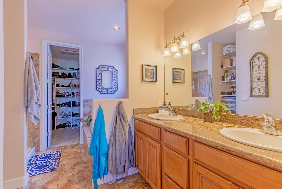 Main Bathroom with Dual Sinks - 2924 Lost Creek Rd S. Montrose, CO 81401 - Atha Team Real Estate Agents
