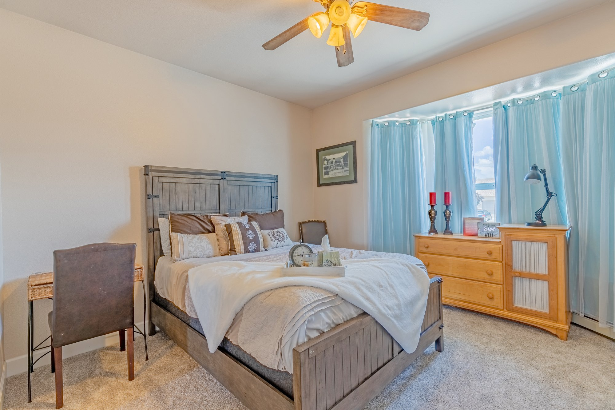 Bedroom with Bay Windows - 2924 Lost Creek Rd S. Montrose, CO 81401 - Atha Team Real Estate Agents