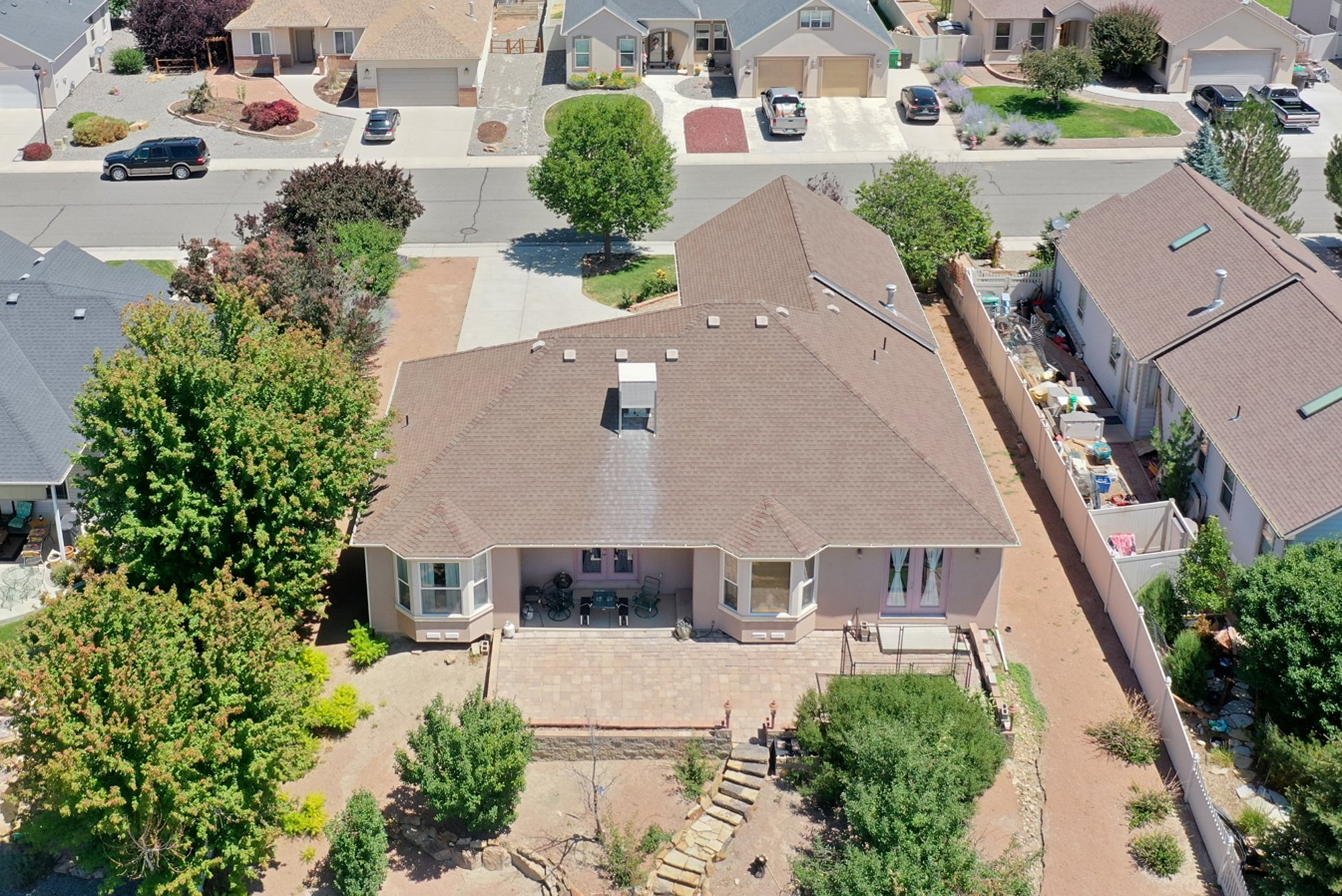 Back Patio Aerial View - 2924 Lost Creek Rd S. Montrose, CO 81401 - Atha Team Real Estate Agents