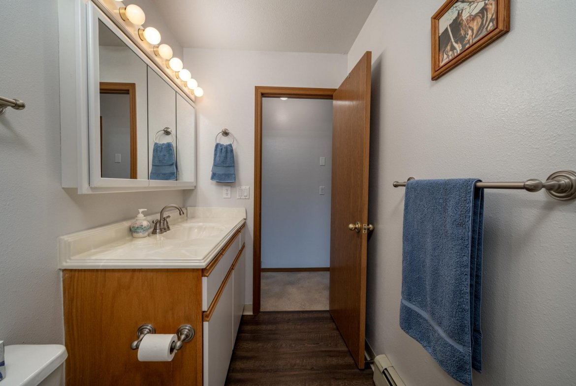 Bathroom with Lighted Vanity - 1311 Manchester Dr Montrose, CO 81401 - Atha Team Realty Agents