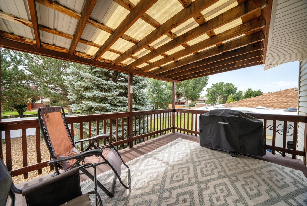 Covered Back Porch - 1311 Manchester Dr Montrose, CO 81401 - Atha Team Realty Agents
