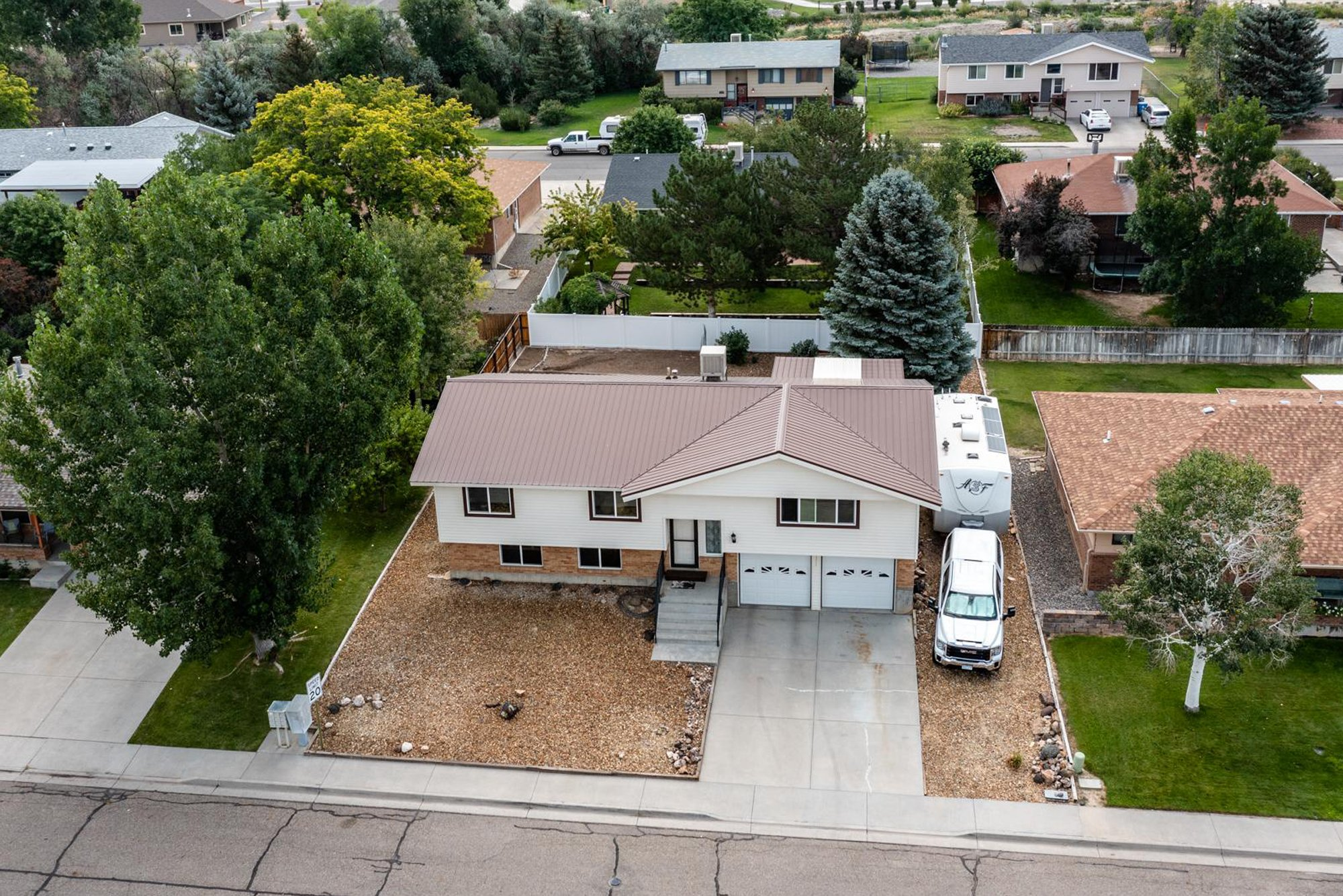 Drone View of Front of Home - 1311 Manchester Dr Montrose, CO 81401 - Atha Team Realty Agents