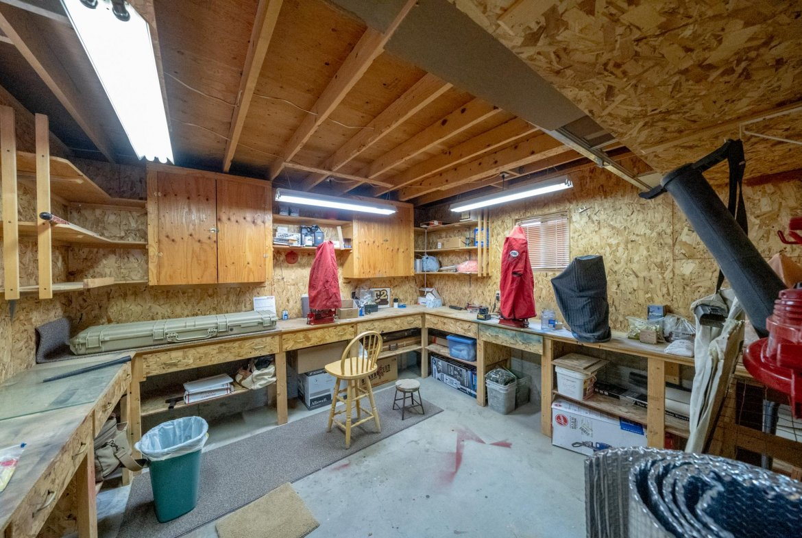 Workshop Area in Garage - 1311 Manchester Dr Montrose, CO 81401 - Atha Team Realty Agents