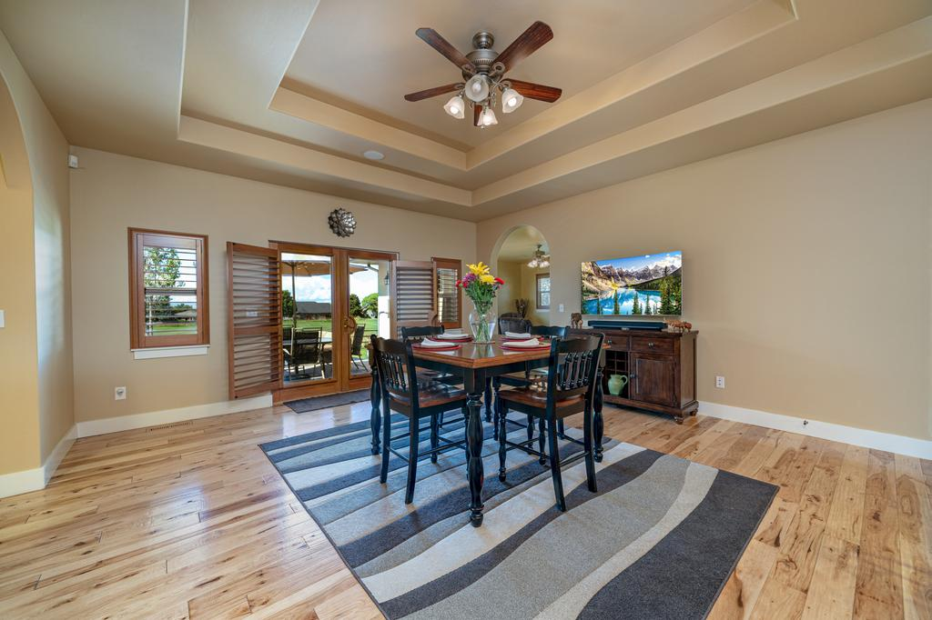Dining Room with Trey Ceiling - 481 Collins Way Montrose, CO 81403 - Atha Team Cobble Creek Real Estate