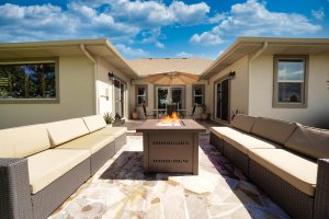 Patio with Fire pit and Seating - 481 Collins Way Montrose, CO 81403 - Atha Team Cobble Creek Real Estate