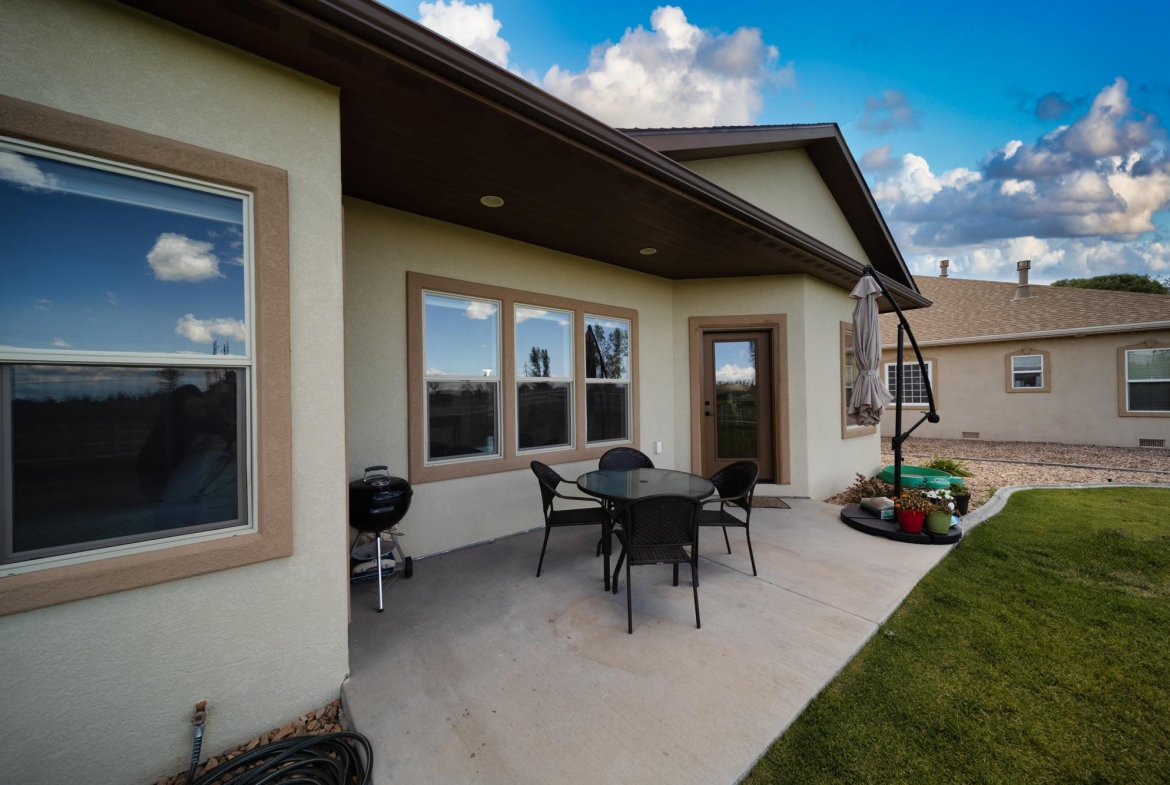 Covered Back Patio - 597 Cobble Dr Montrose, CO - Atha Team MLS Colorado