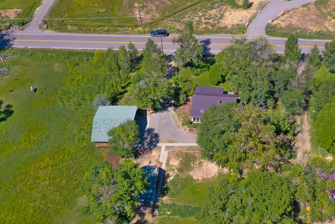 Aerial View from the South - 60276 Oak Grove Rd Montrose, CO 81403 - Atha Team Real Estate
