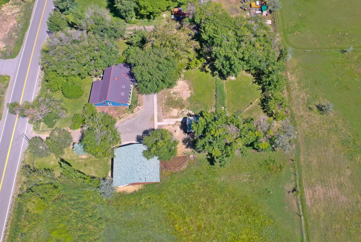 Aerial View from the West - 60276 Oak Grove Rd Montrose, CO 81403 - Atha Team Real Estate