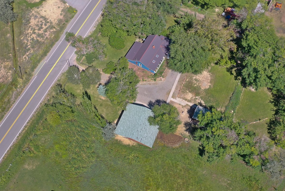 Aerial View of Fenced Property - 60276 Oak Grove Rd Montrose, CO 81403 - Atha Team Real Estate