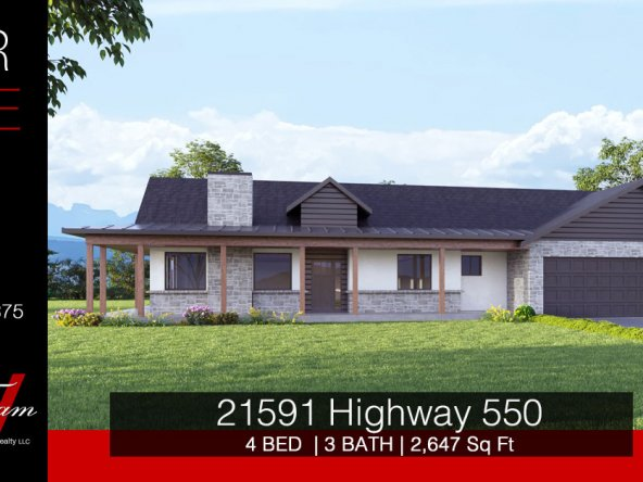 Newly Constructed Country Home on 1.33 Irrigated Acres - 21591 Hwy 550 Montrose, CO - Atha Team Realty