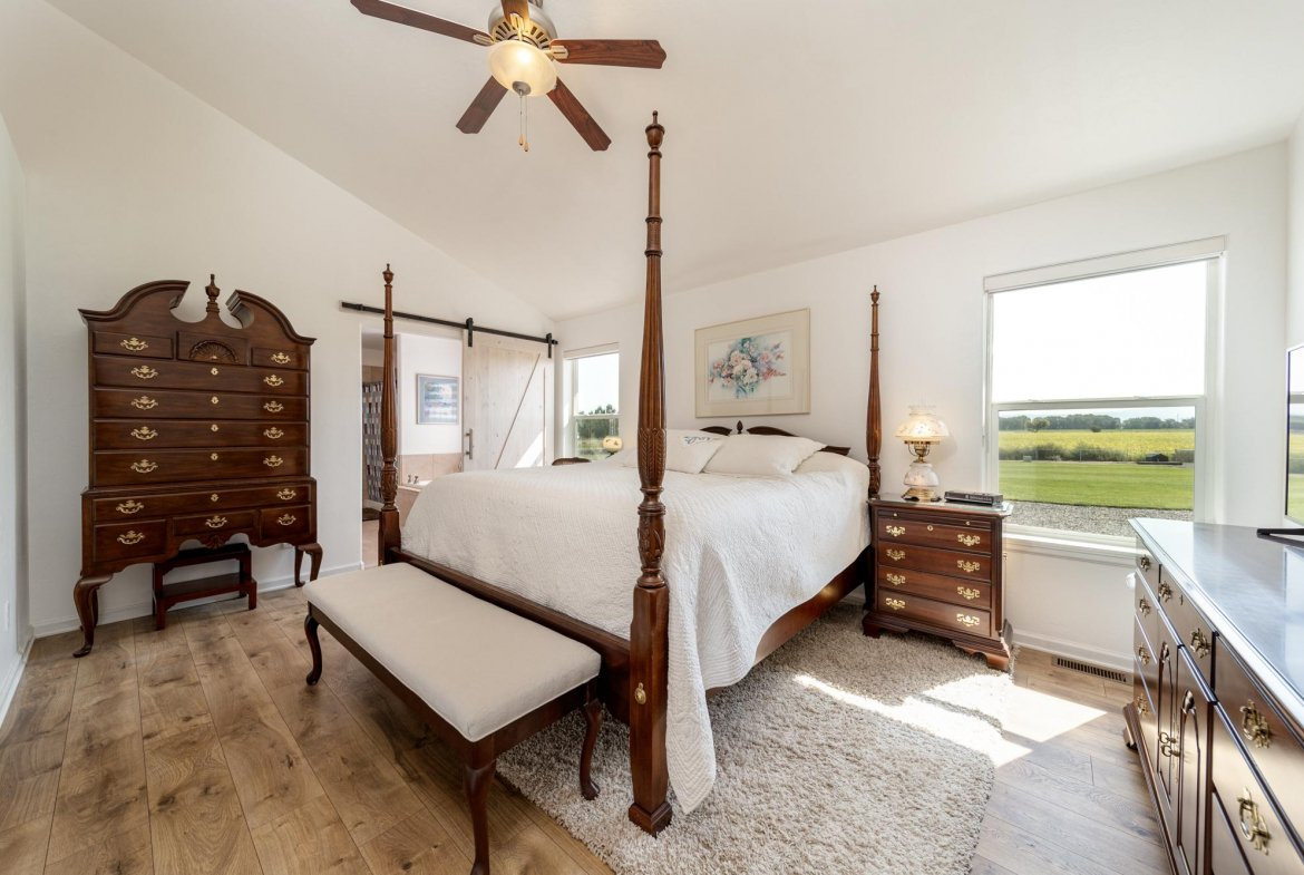 Primary Bedroom with Ceiling Fan- 15552 6120 Rd Montrose, CO 81403 - Atha Team Country Real Estate