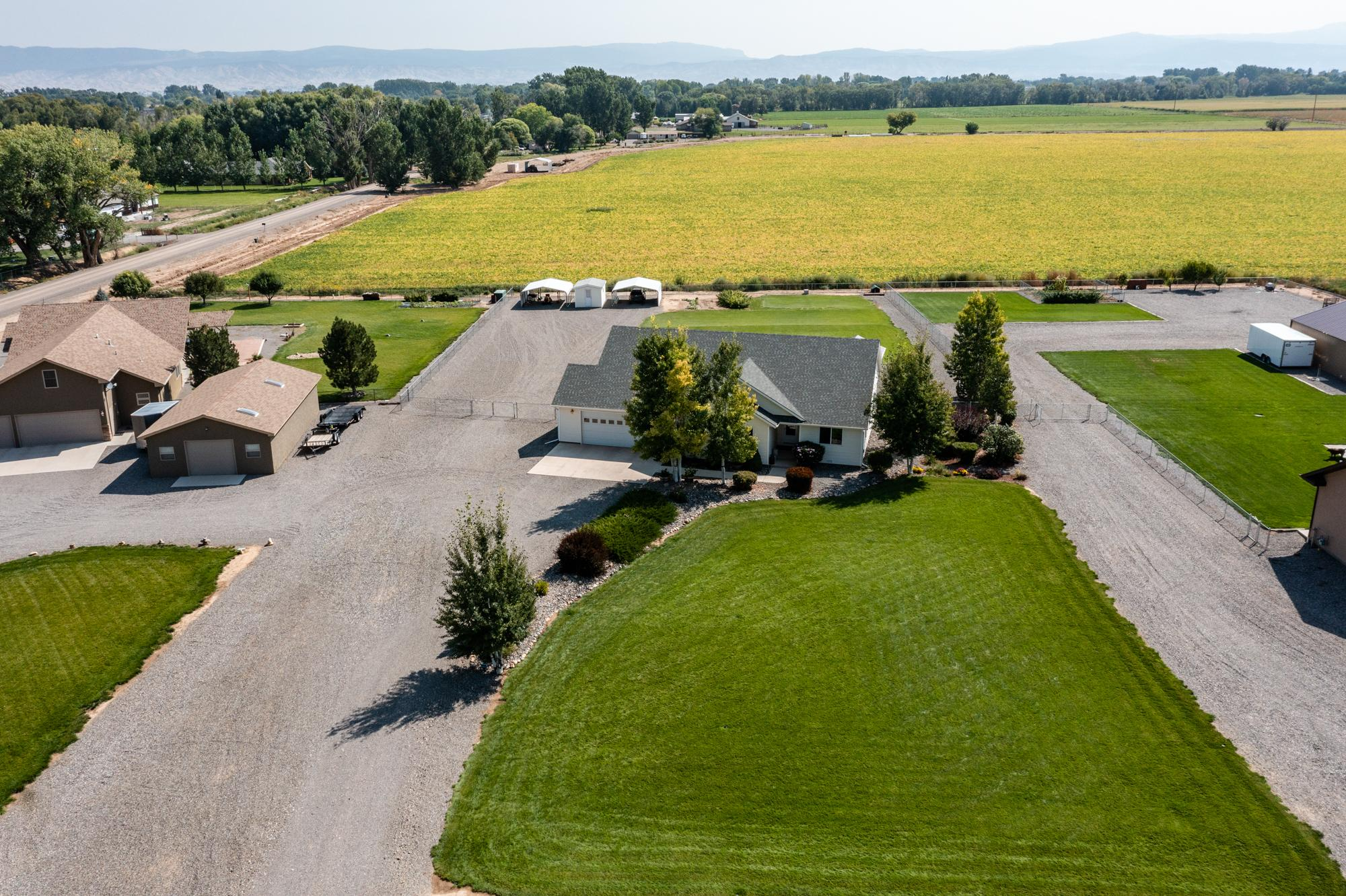 Aerial View of Front of Property - 15552 6120 Rd Montrose, CO 81403 - Atha Team Country Real Estate
