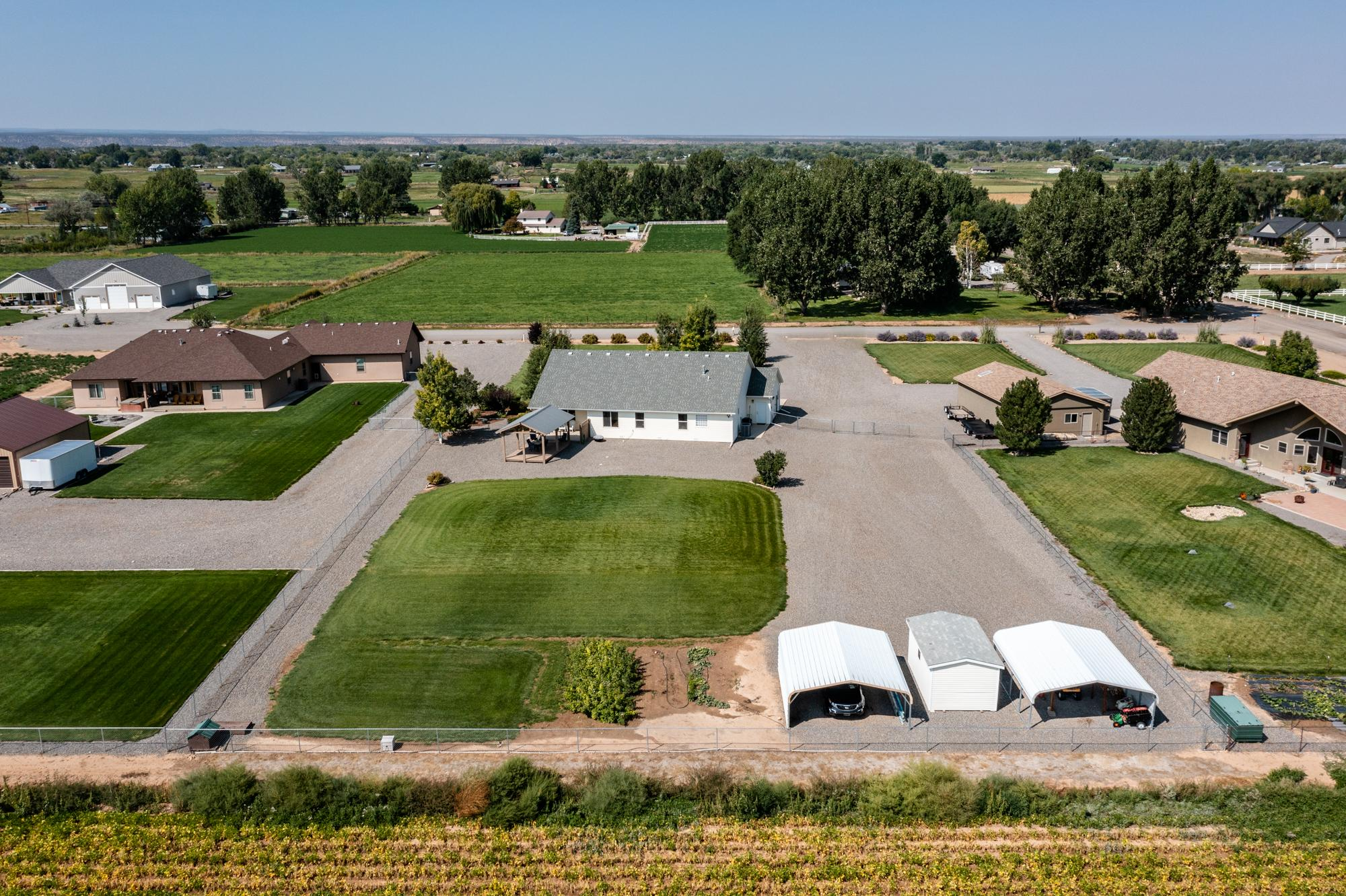 Aerial View Rear of Property - 15552 6120 Rd Montrose, CO 81403 - Atha Team Country Real Estate