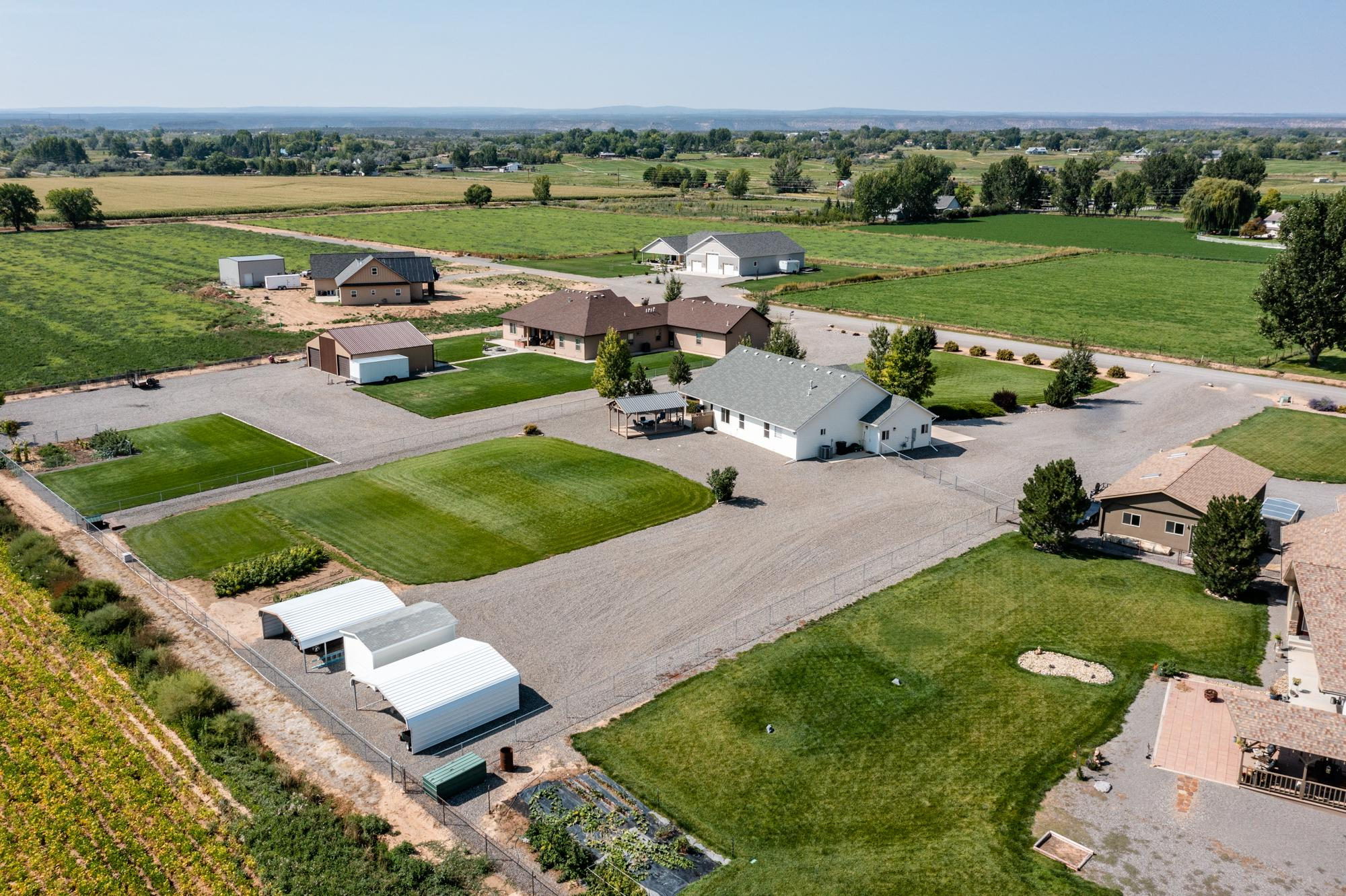 Aerial View Side of Property - 15552 6120 Rd Montrose, CO 81403 - Atha Team Country Real Estate