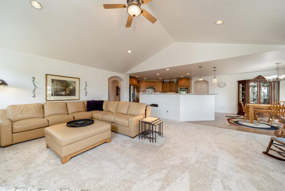 Open Concept Living and Kitchen - 15552 6120 Rd Montrose, CO 81403 - Atha Team Country Real Estate