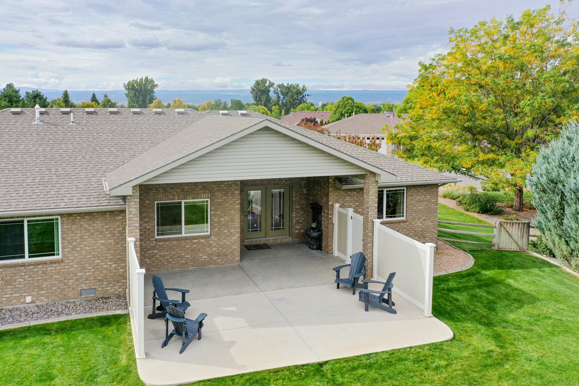 Aerial View of Private Back Patio - 2941 Ivy Dr Montrose, CO 81401 - Atha Team Real Estate