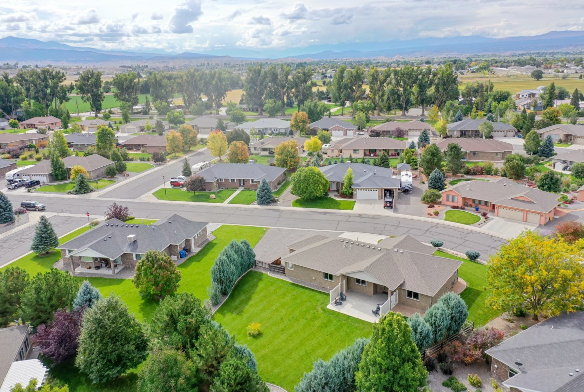 Aerial View Rear of Home - 2941 Ivy Dr Montrose, CO 81401 - Atha Team Real Estate