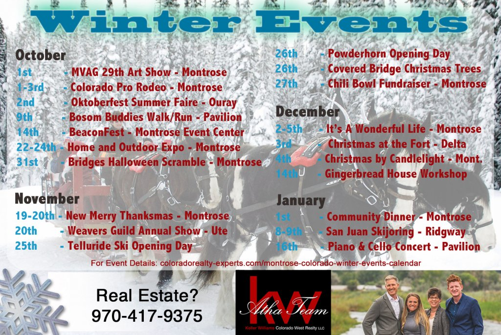 Atha Team - Montrose, Telluride, Delta, Ouray, Ridgway Winter_Events