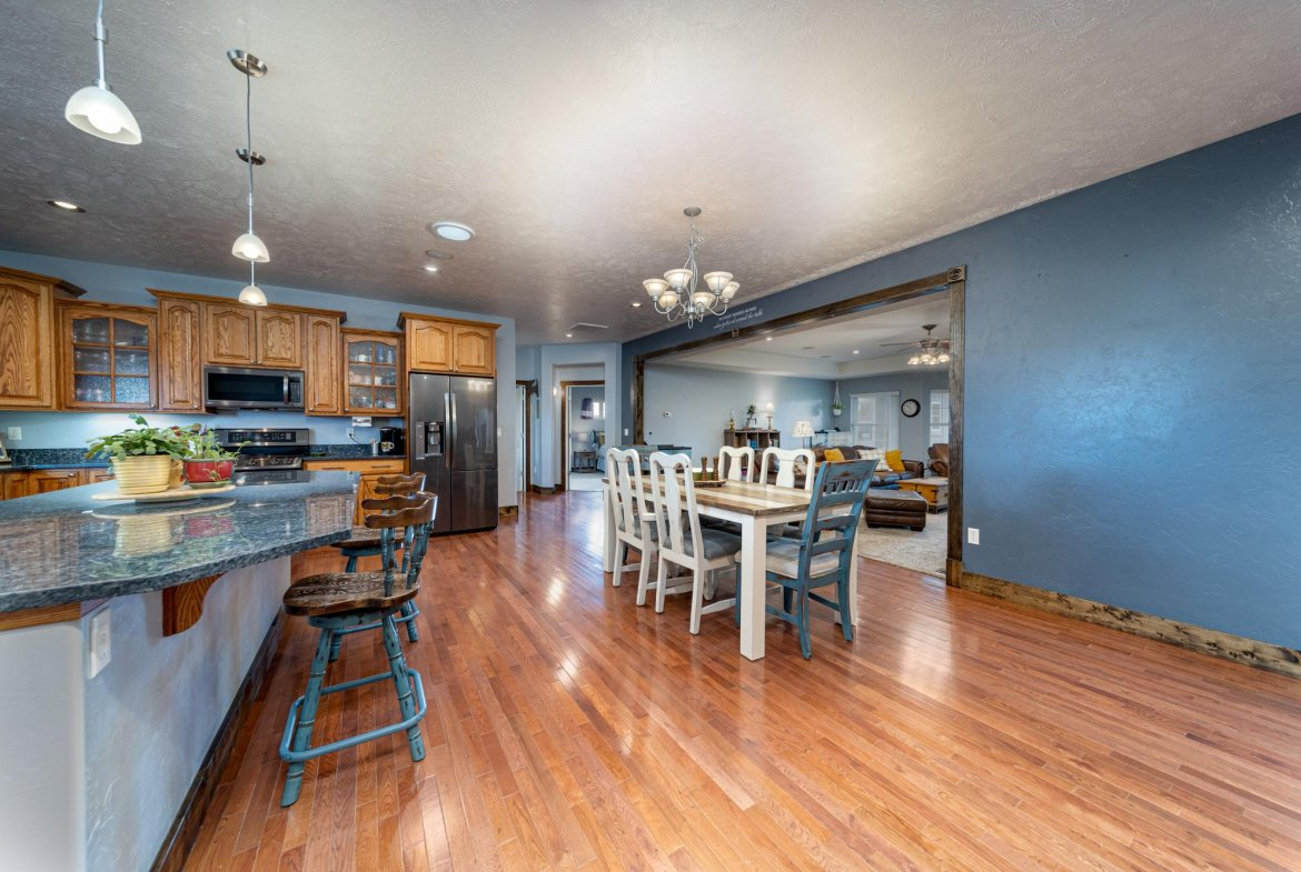 Kitchen Dining Area - 12703 6100 Rd Montrose, CO 81403 - Atha Team Country Real Estate