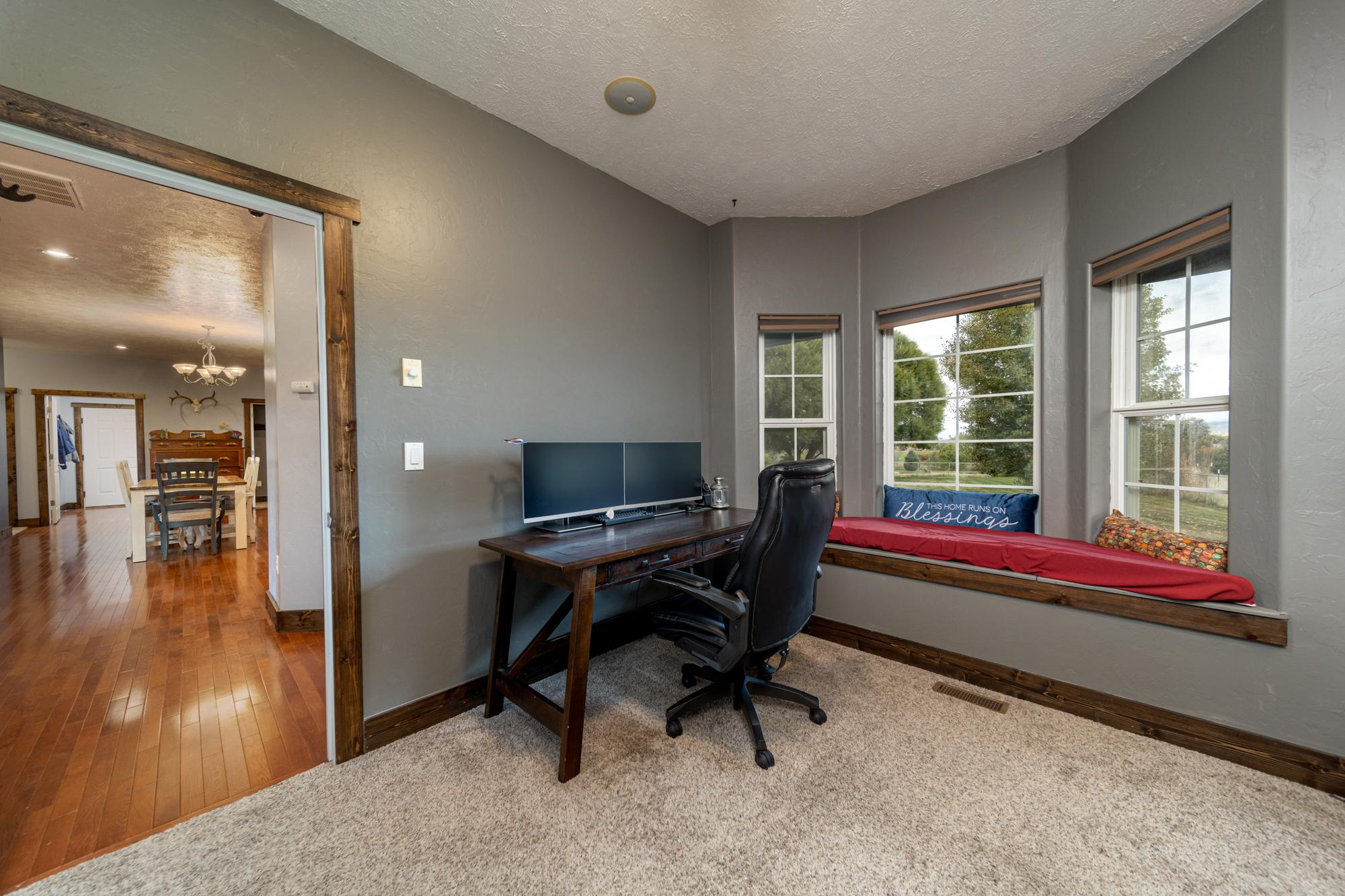 Office with Window Seat - 12703 6100 Rd Montrose, CO 81403 - Atha Team Country Real Estate