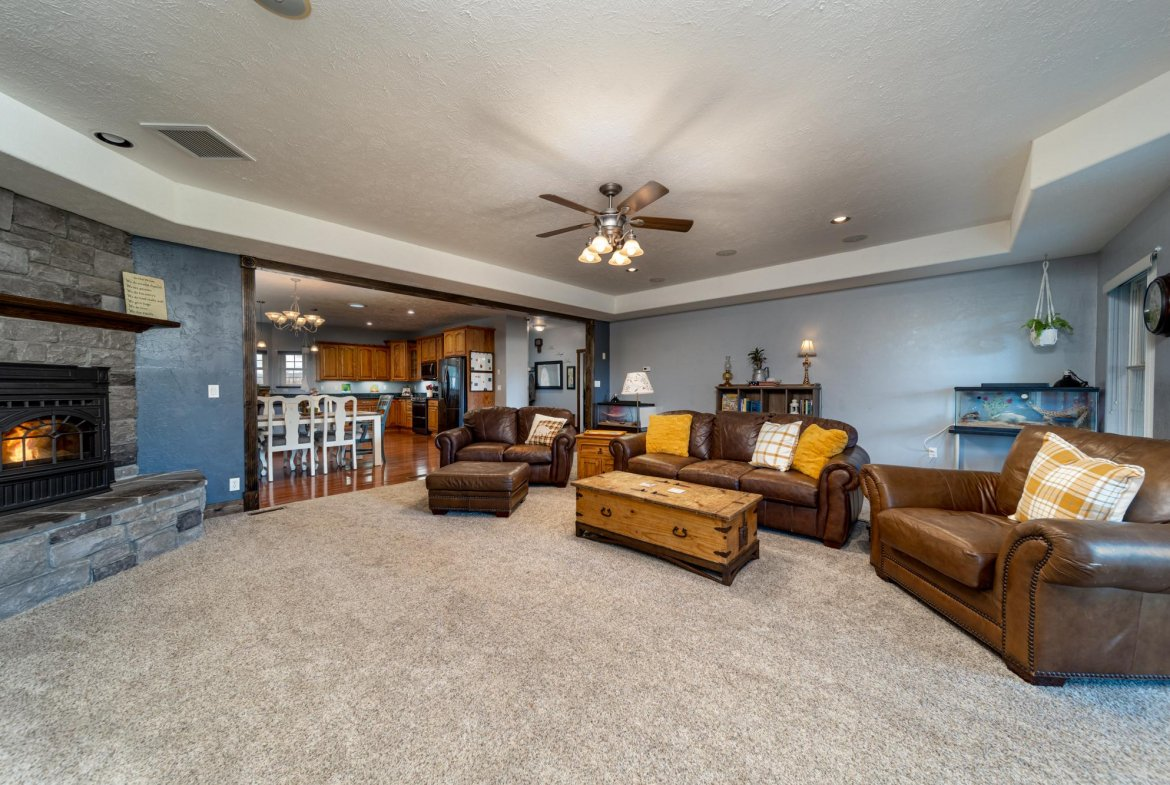Living Room with Carpet - 12703 6100 Rd Montrose, CO 81403 - Atha Team Country Real Estate