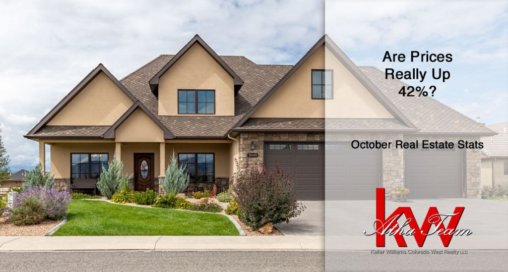 Are Prices Really Up 42 Percent - October Real Estate Stats Montrose Colorado - Atha Team